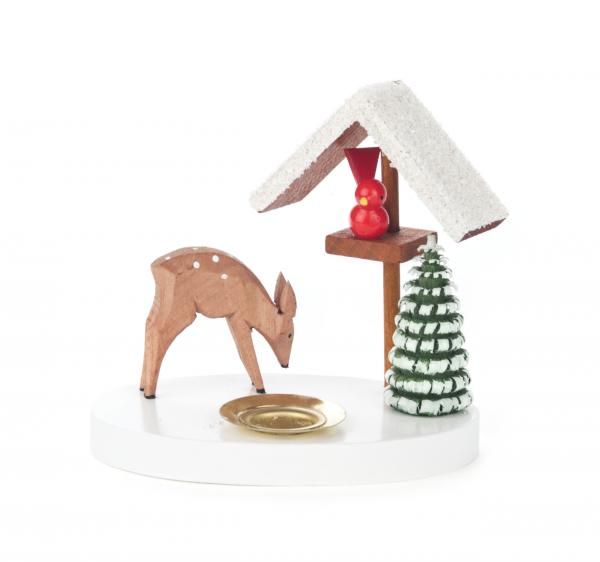 candle holder bird feeder and deer