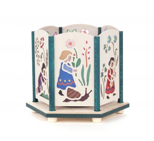 tealight holder flower children