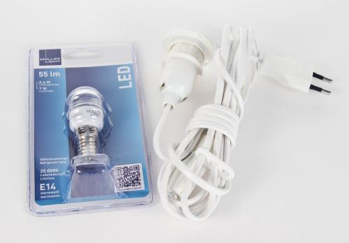 Laternenkabel mit LED Lampe 0,6W 3 Meter