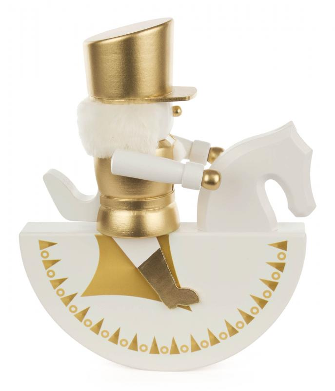 rocking horse, nutcracker gold/white exclusive