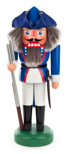 nutcracker french soldier 27 cm blue