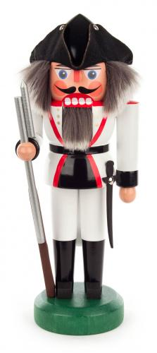 nutcracker french soldier 27 cm white
