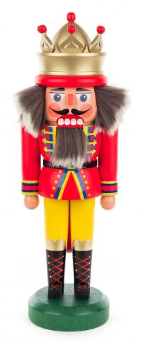 nutcracker king 30 cm red