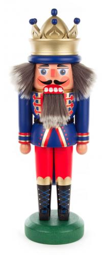 nutcracker king 30 cm blue