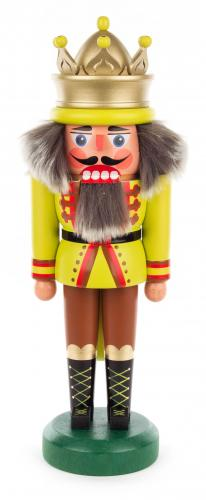 nutcracker king 30 cm yellow/green