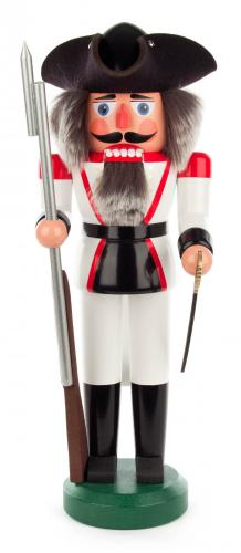 nutcracker french soldier 39 cm white