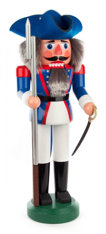 nutcracker french soldier 39 cm blue