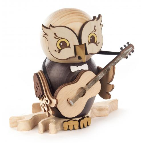 smoker owl with guitar