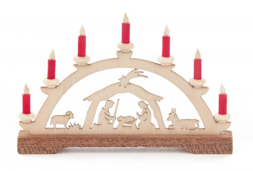 mini candle arc nativity red candles