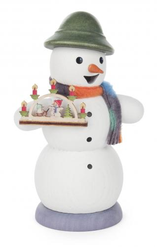 smoker snowman with candle arc