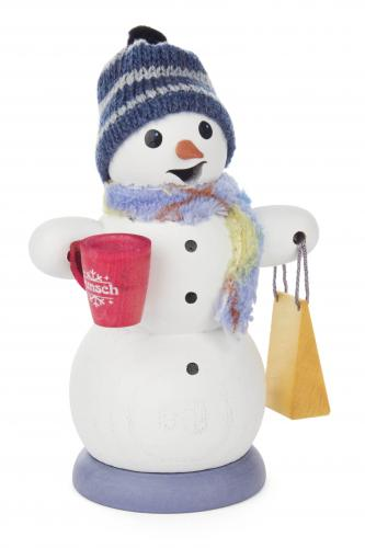 smoker snowman with hot wine