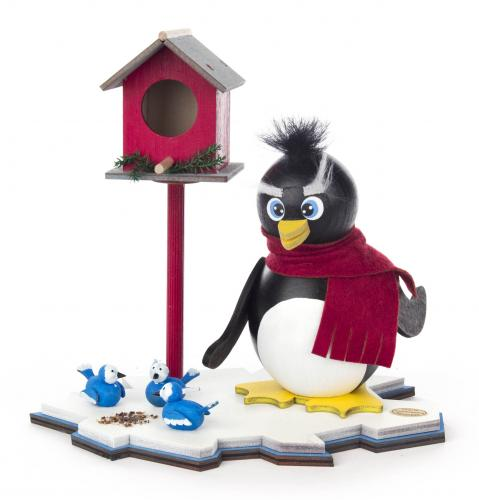 smoker penguin with bird house