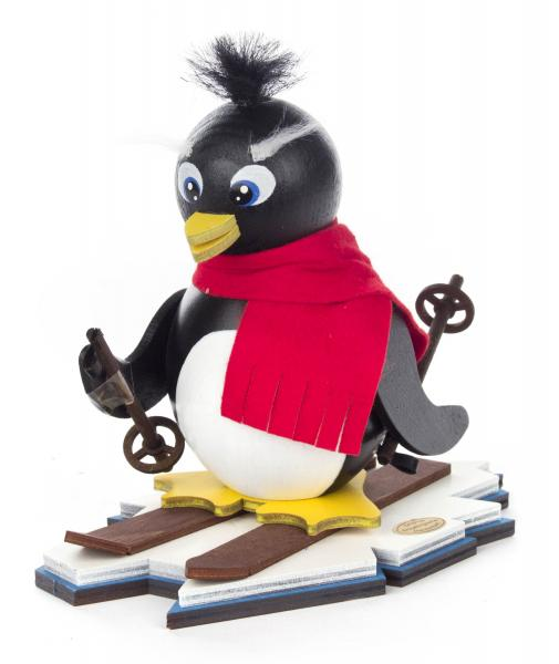 smoker penguin with ski